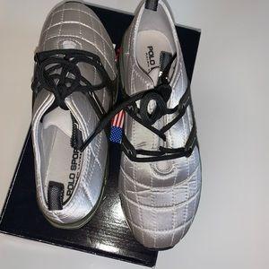 Ralph Lauren Sateen Quilted Tennis Shoe - Sz.8